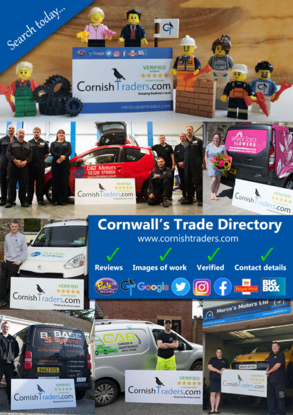 cornish traders. CT Verified. Cornwalls business directory, plumber cornwall
